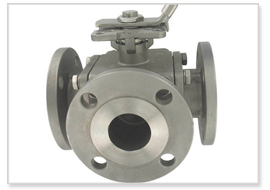 SS Three Way Ball Valve