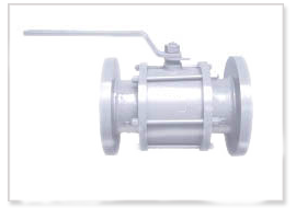 C.S. Three PC Flanged end /Screwed end Ball Valve