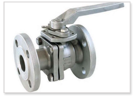 C.I. Three PC Flange end / Screwed end Ball Valve